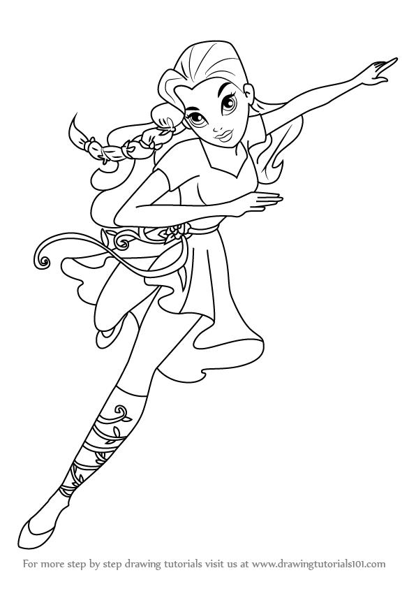DC Super Hero Girls: Как рисовать Пойзон Айви