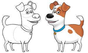 Тайная Жизнь Домашних Животных: Рисуем Макса