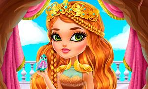 Игра Эвер Афтер Хай: Красивый макияж и одевалка для Эшлин Эллы
