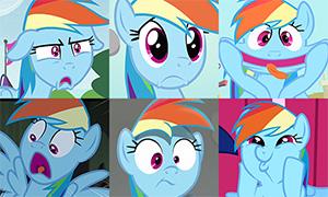 Пони: Самые веселые и странные эмоции Радуги в мультфильме