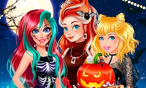 Игра Дисней Принцессы и Хэллоуин: Три вызова