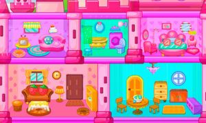 Игра для девочек: Декор кукольного домика
