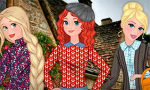 Одевалка: Теплые свитера для Дисней Принцесс