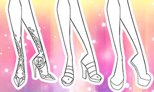 Как рисовать обувь в стиле Винкс