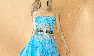 Фэшн иллюстрации: Изысканные рисунки платьев