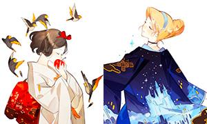 Дисней Принцессы в кимоно