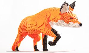 Необычные скульптуры животных из кубиков Лего