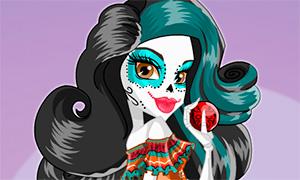 Игра: Одевалка Скелиты Калаверас для карнавала