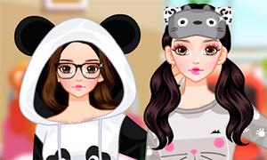 Игра для девочек: Пижамки в стиле животных