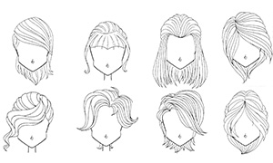 Как рисовать прически Винкс: Картинки подсказки