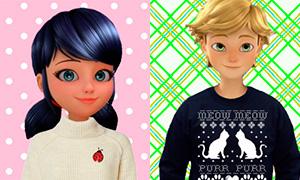 Новогодние аватарки с Леди Баг, Супер-Котом и другими