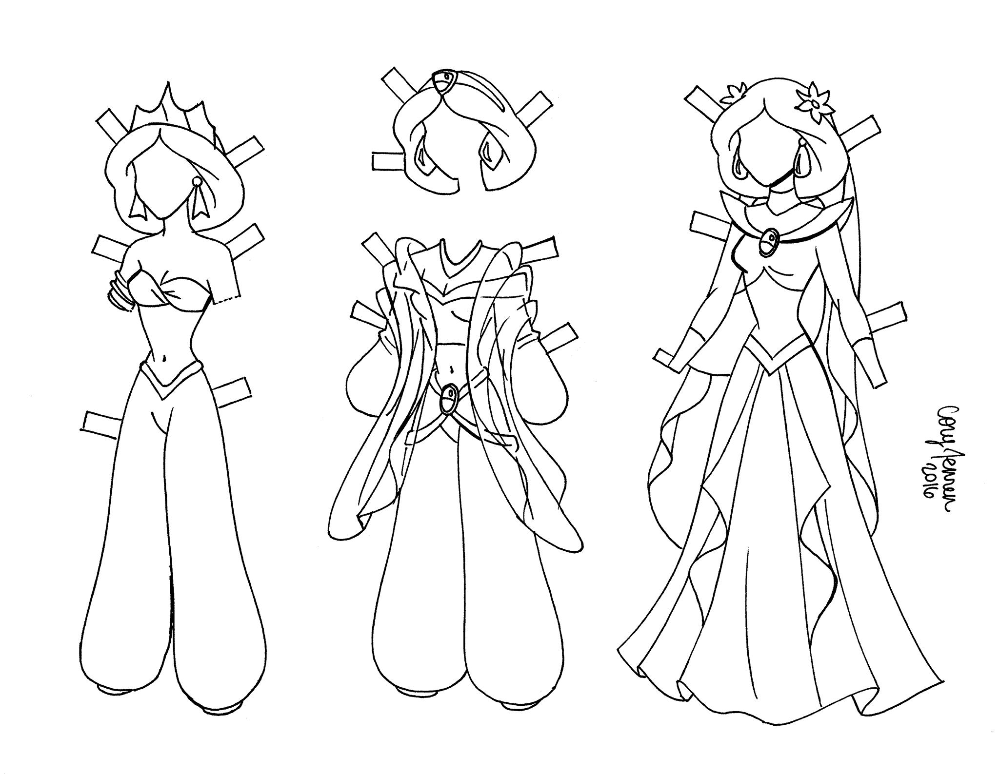 бумажная кукла принцессы жасмин раскраска Youloveit Ru