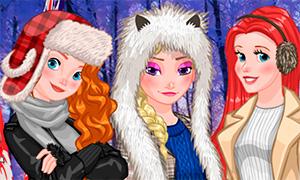 Игра для девочек: Зимняя фото сессия Дисней Принцесс