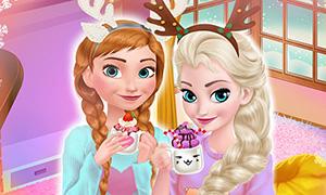 Игра Холодное Сердце: Уютная зима для Анны и Эльзы