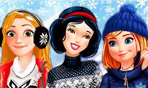 Игра: Зимние каникулы Дисней Принцесс