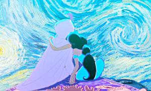 Дисней Принцессы на фоне картин Ван Гога