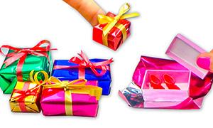 Как сделать подарочные коробки для кукол