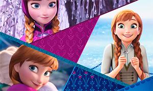 Холодное Сердце - картинки визитки главных героев