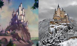 Места и здания, вдохновившие художников Дисней