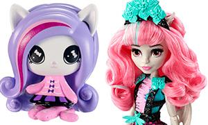 Новинки кукол Монстер Хай: Party Ghouls, Dessert-Themed и фигурки минис