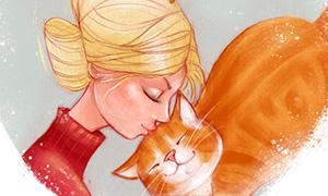 Новогодние открытки с котиками
