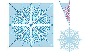 Новогодние поделки: Схемы снежинок из бумаги