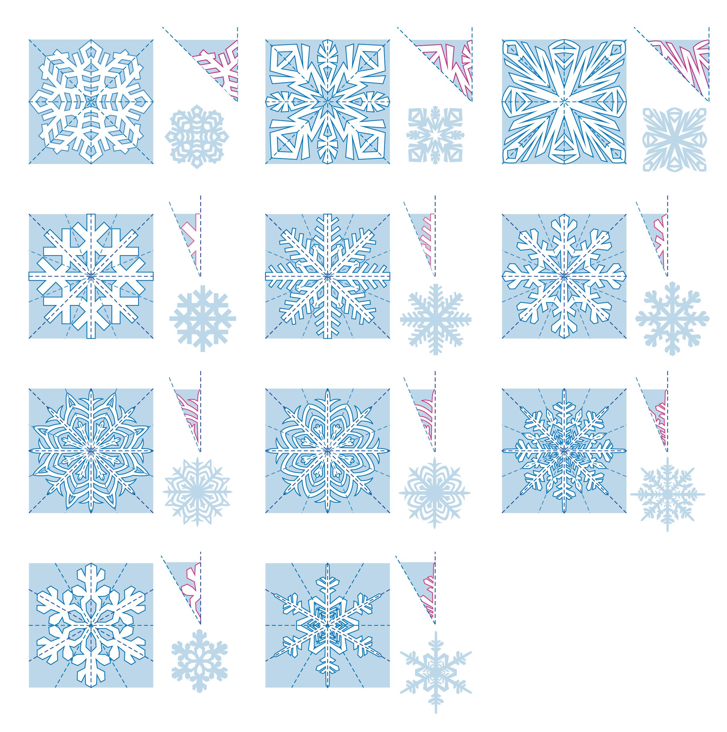 схема новогодних поделок из бумаги