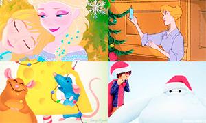 Новый Год и персонажи мультфильмов