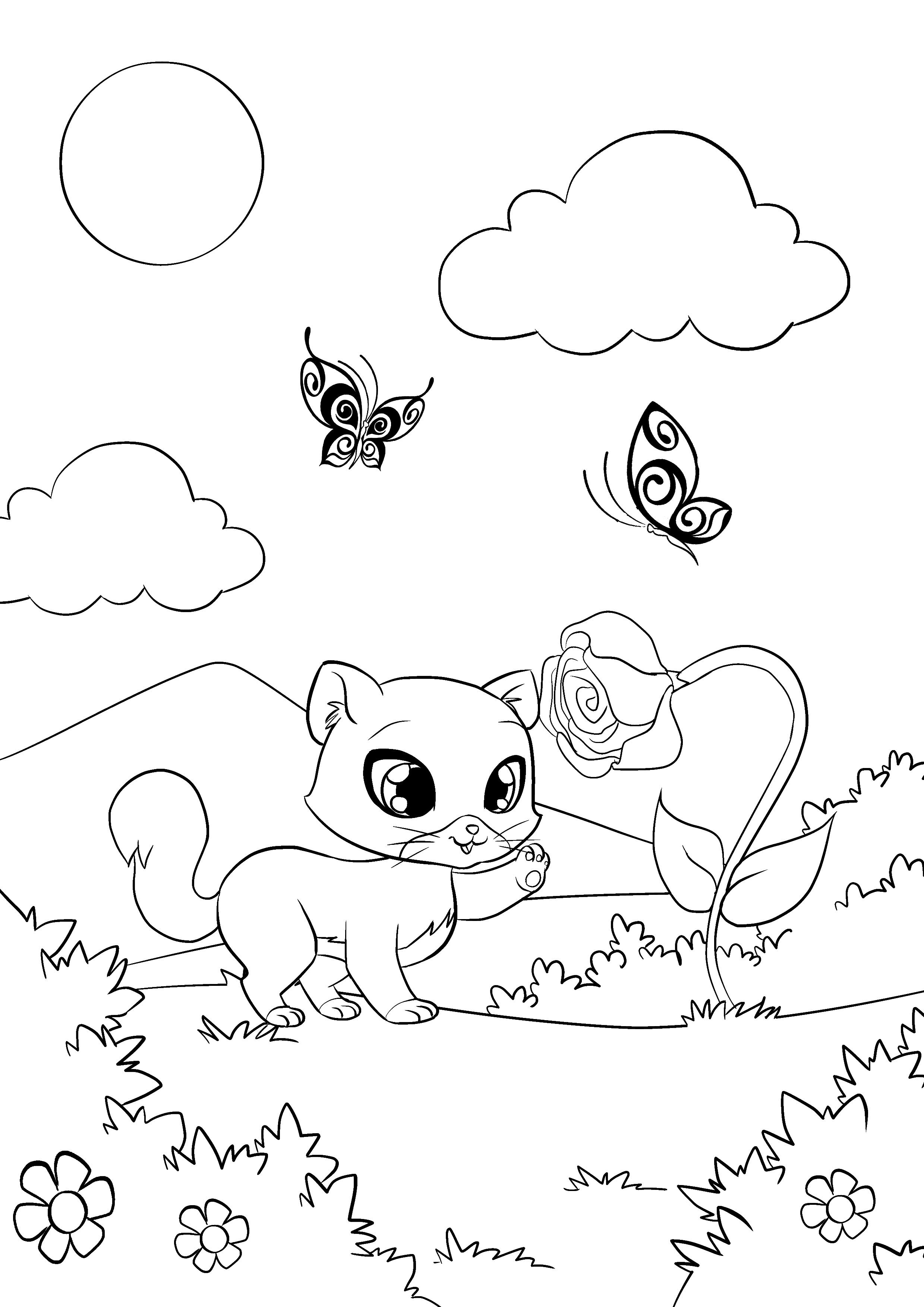 Милота: Раскраски с котятами и щенками - YouLoveIt.ru