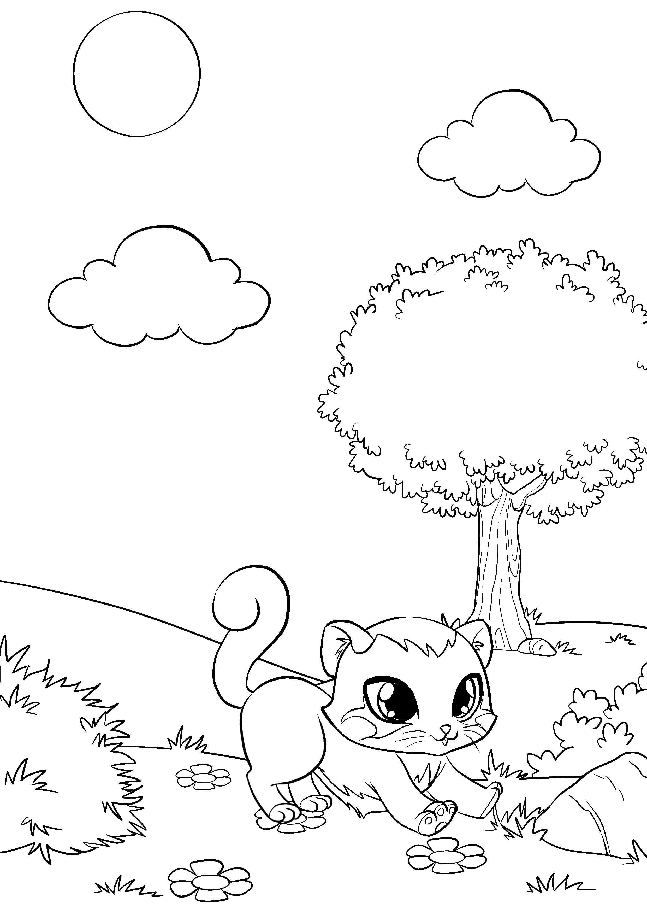 Раскраски с котятами и щенками распечатать бесплатно