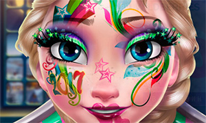 Игра: Новогодний макияж Эльзы