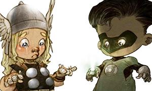 Супер герои малыши