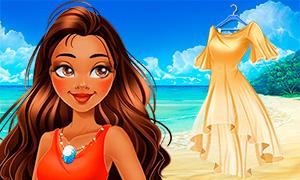 Игра для девочек: Моана новенькая в мире Дисней