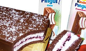 Как сделать гигантский Киндер Пингви (Kinder Pingui)