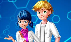 Игра Леди Баг и Супер-Кот: Маринетт и Эдриан на уроке химии