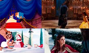 Красавица и Чудовище: Покадровое сравнение фильма и мультфильма