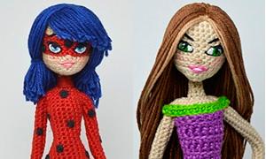 Вязанные куколки с любимыми героинями