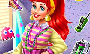 Игра для девочек: Ариэль и мода 80х