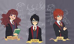 Герои мира Гарри Поттера и их патронусы в иллюстрациях