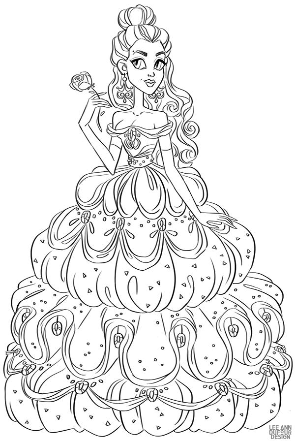 Раскраски с Дисней Принцессами - YouLoveIt.ru