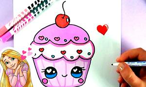 Как рисовать милую еду?