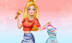 Игра для девочек: Новый гардероб Барби
