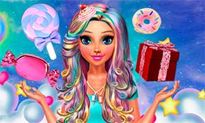 Игра для девочек: Конфетный стиль