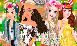 Игра: Моана устраивает праздник в саду для Дисней Принцесс