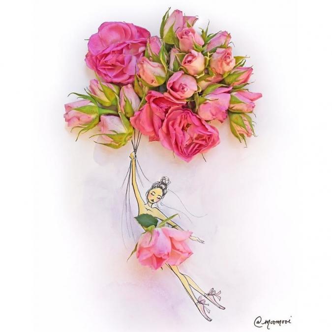 как засушить цветы для гербария утюгом