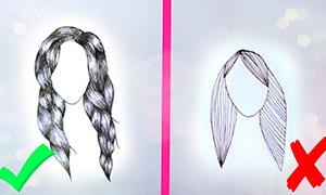 Как нарисовать волосы: Основные ошибки при рисовании волос