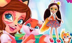 Куклы Enchantimals: Девочки зверушки с питомцами