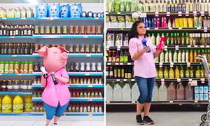 Зверопой в жизни: Танец Розиты в магазине