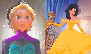Дисней Принцессы снова поменялись нарядами