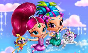 Игра для девочек: Одевалка Шиммер и Шайн